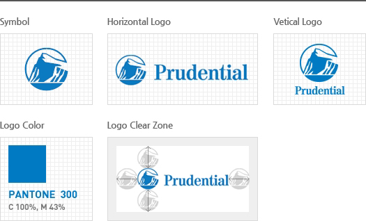 symbol, Horizontal Logo, Vertical Logo, Logo Color, Logo Clear Zone 입니다.